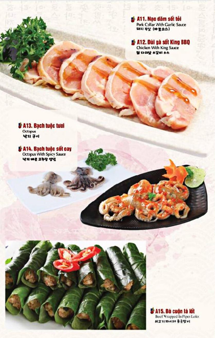 Menu King BBQ Buffet - Nguyễn Văn Quá  16