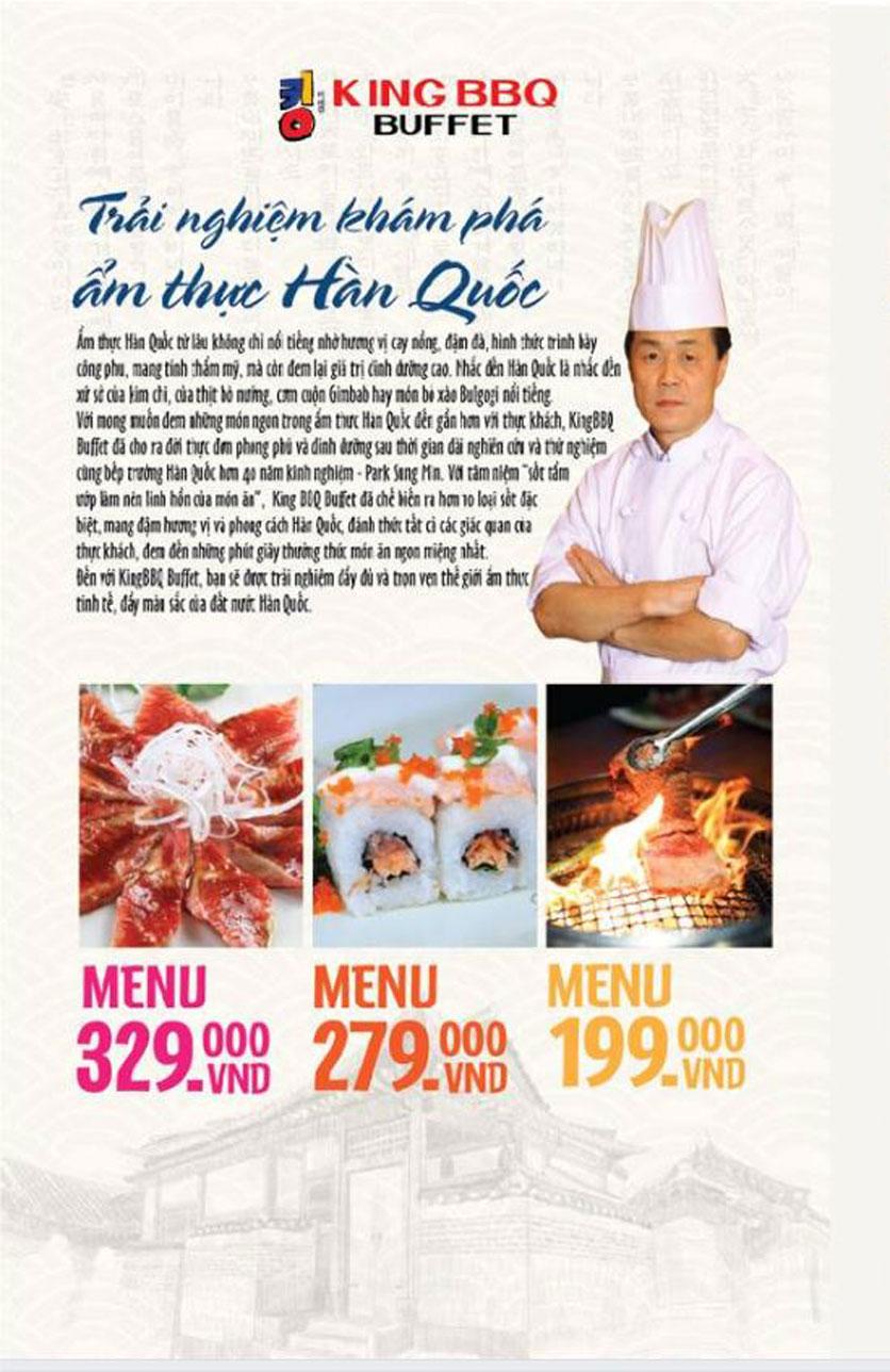 Menu King BBQ Buffet - Nguyễn Văn Quá  2