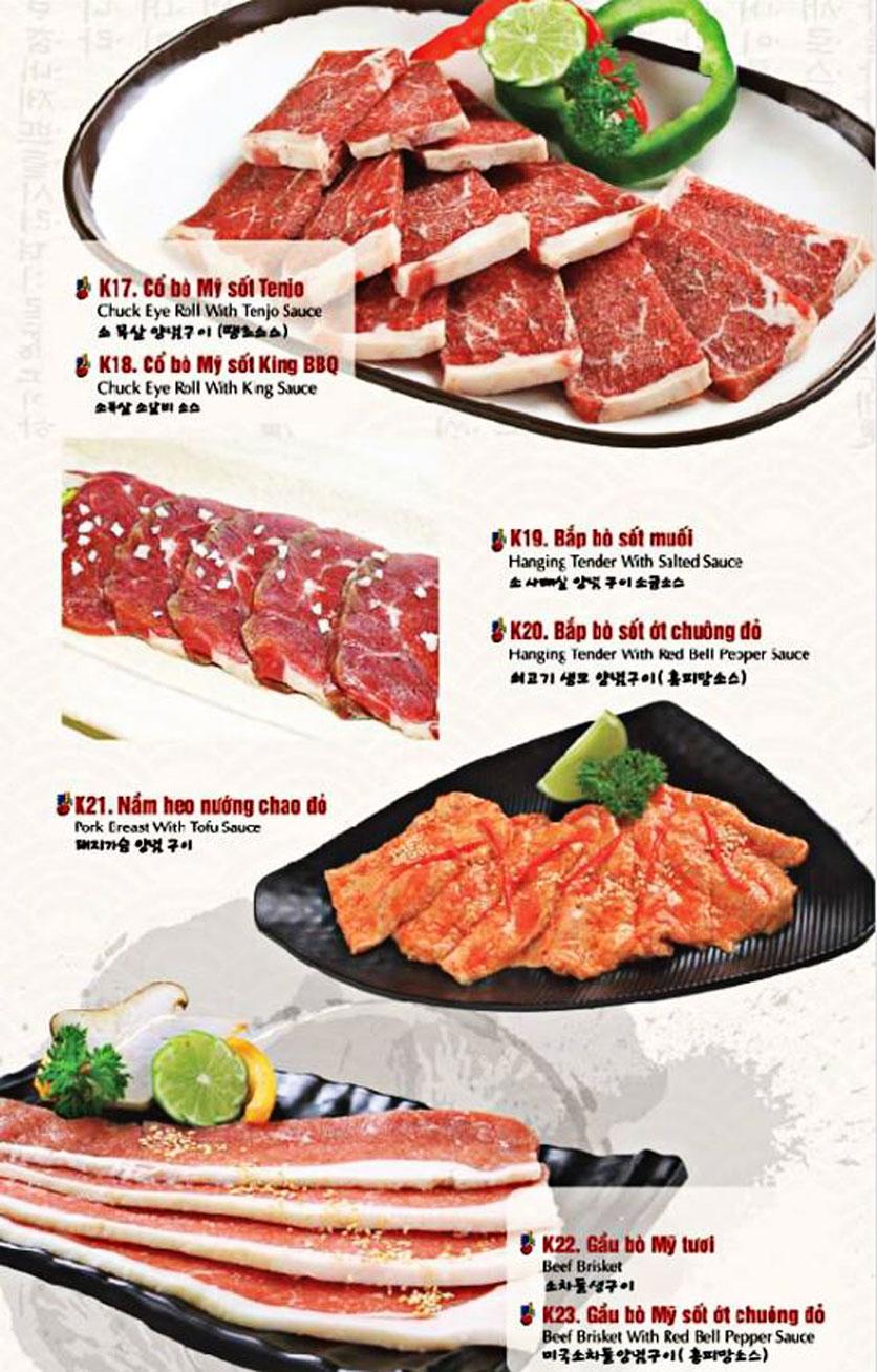 Menu King BBQ Buffet - Nguyễn Văn Quá  9