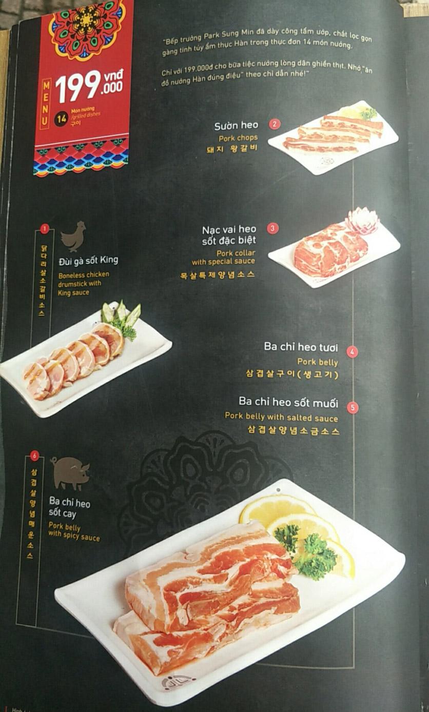 Menu King BBQ - Nguyễn Văn Cừ 1