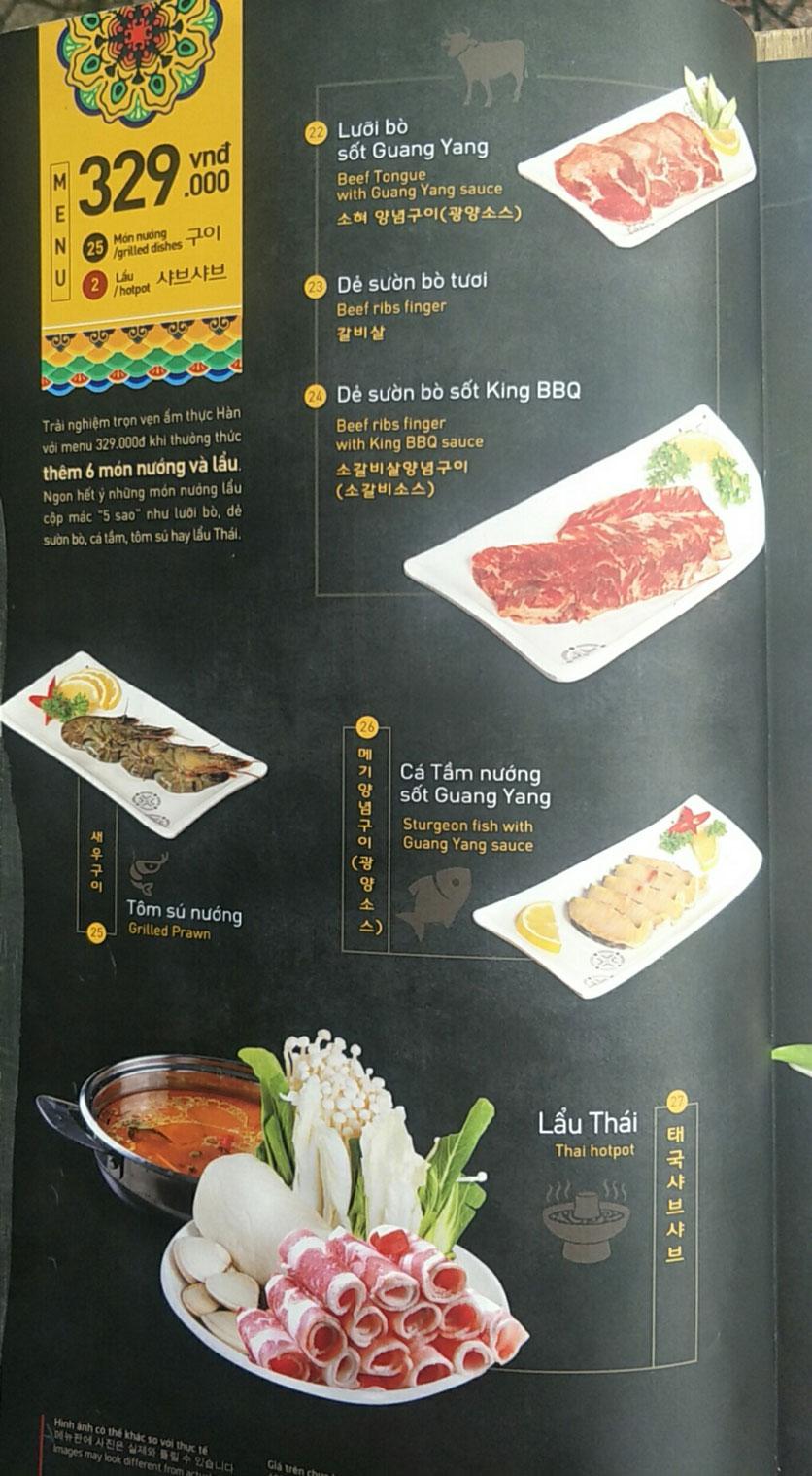 Menu King BBQ - Nguyễn Văn Cừ 3