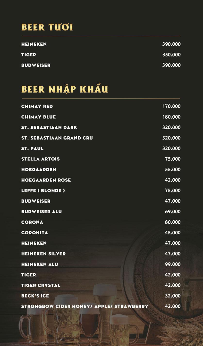 Menu Kingdom Beer Club - Lê Văn Sỹ  2