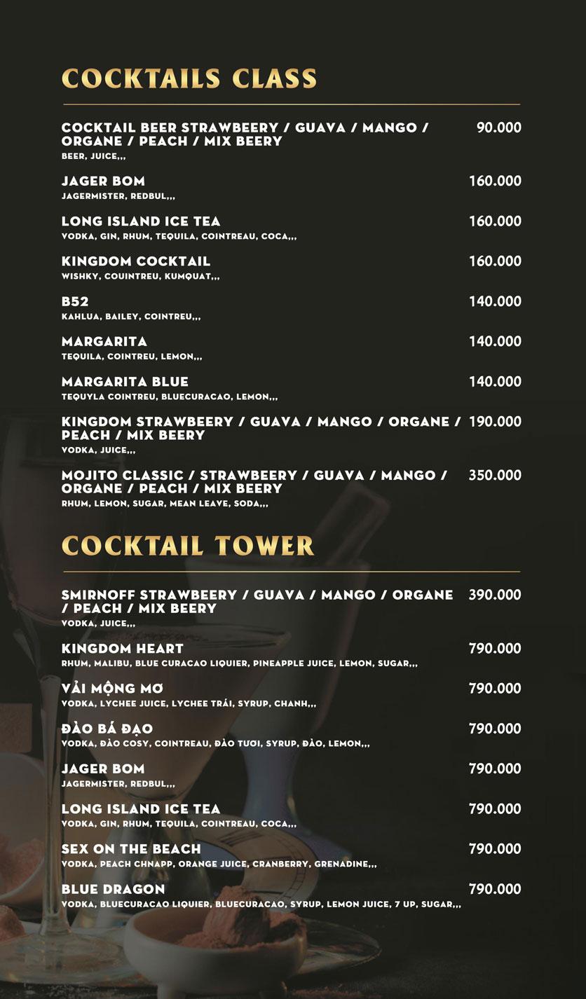 Menu Kingdom Beer Club - Lê Văn Sỹ  3