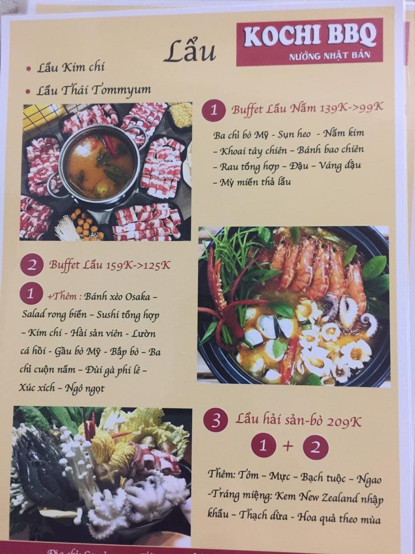 Menu Kochi BBQ - Trần Đại Nghĩa 3
