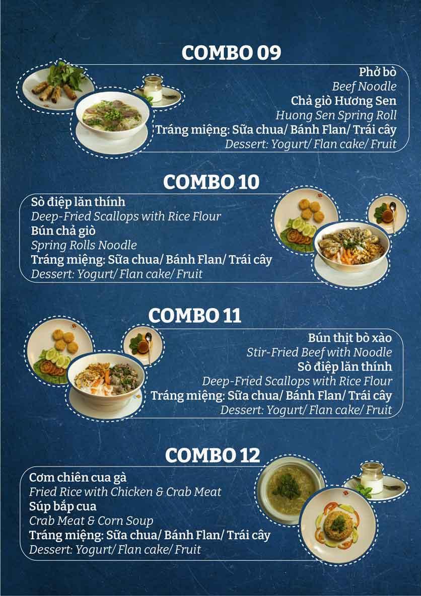 Menu Buffet Khách Sạn Hương Sen  4