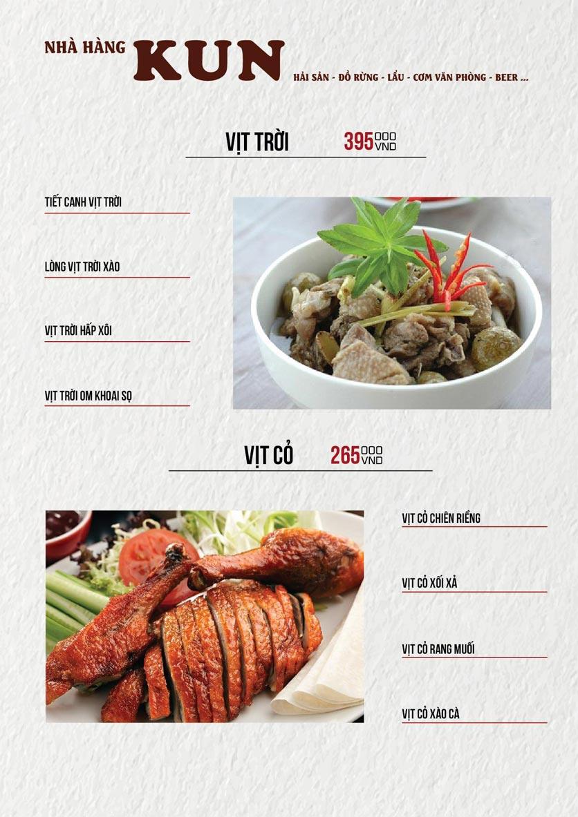Menu Thế Giới Bia KUN – Quang Trung  18