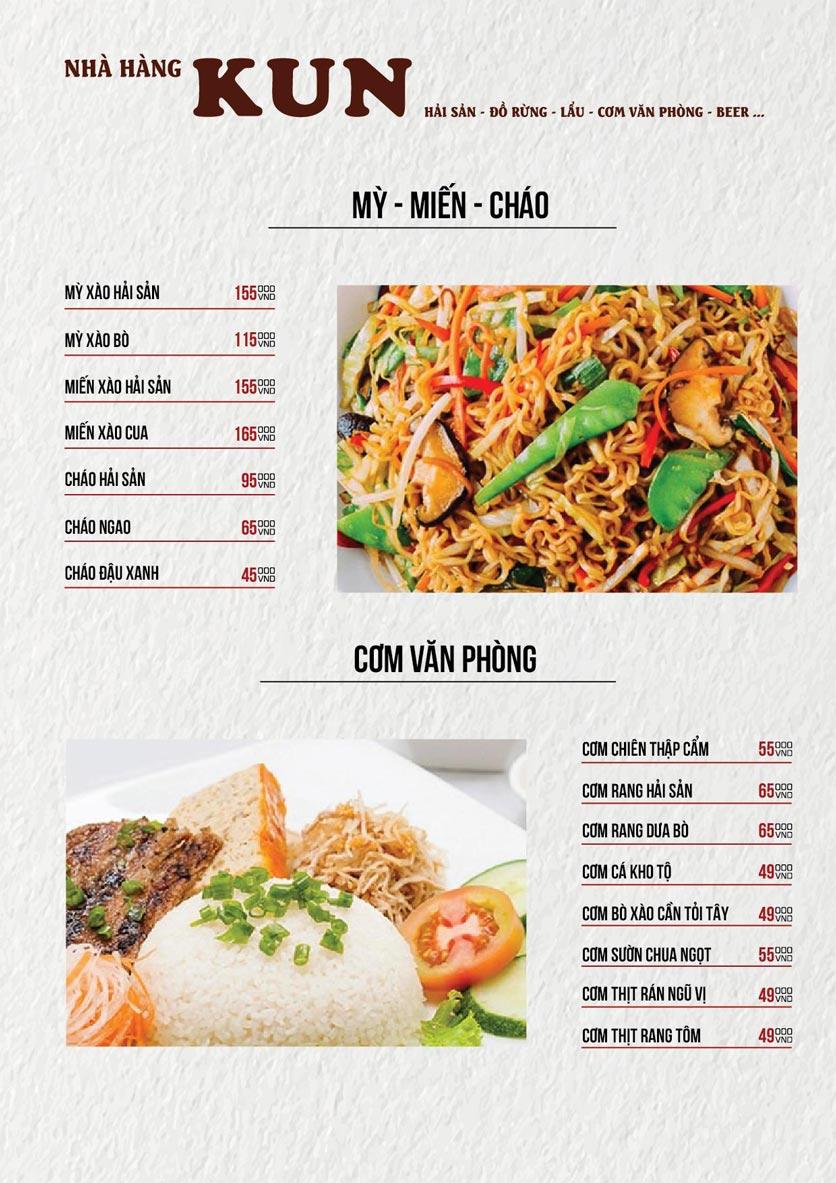 Menu Thế Giới Bia KUN – Quang Trung  20
