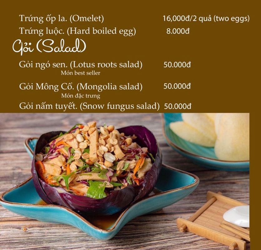 Menu KVegetarian Restaurant & Café - Phan Đăng Lưu 3