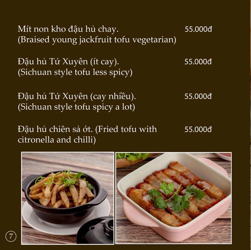 Menu KVegetarian Restaurant & Café - Phan Đăng Lưu 7