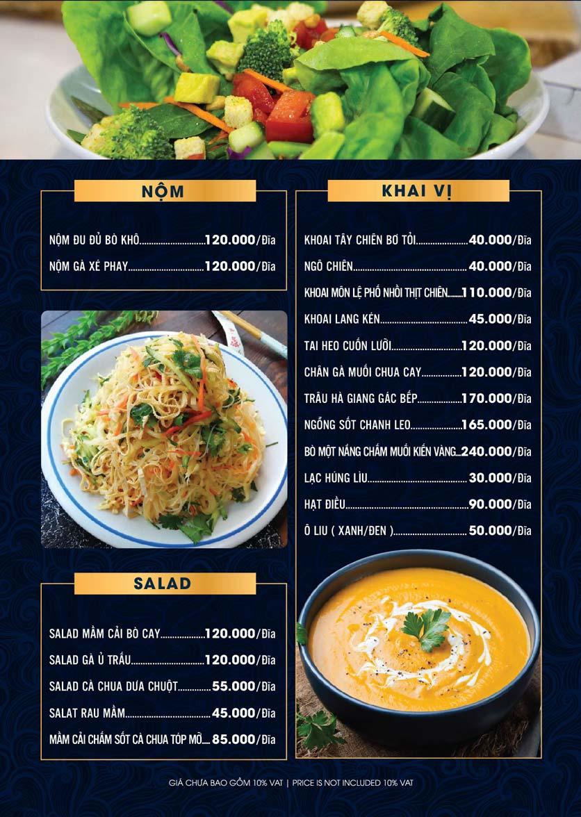 Menu Lahata Restaurant - Dương Đình Nghệ 9