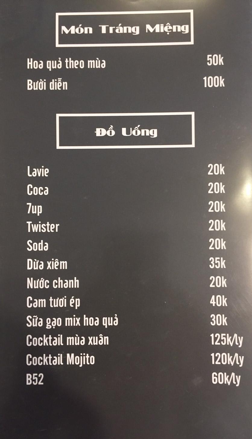 Menu Lam Huyền - Đặc sản lẩu hơi nồi đá - Hoàng Quốc Việt  10
