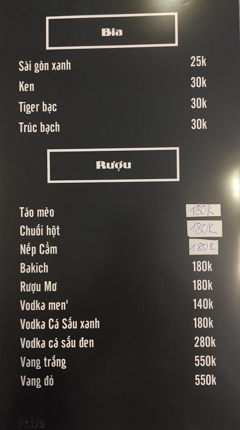 Menu Lam Huyền - Đặc sản lẩu hơi nồi đá - Hoàng Quốc Việt  11