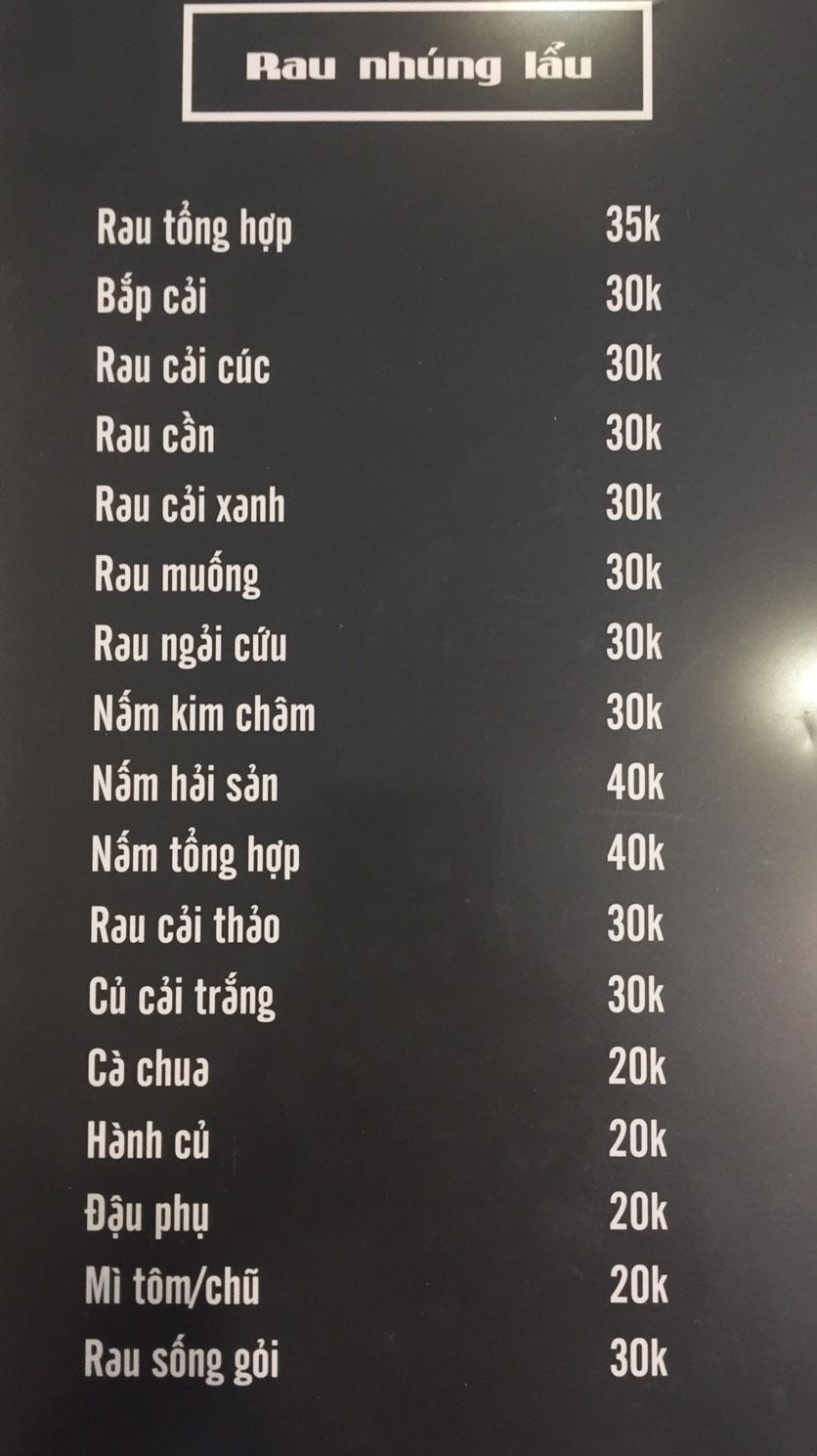 Menu Lam Huyền - Đặc sản lẩu hơi nồi đá - Hoàng Quốc Việt  3