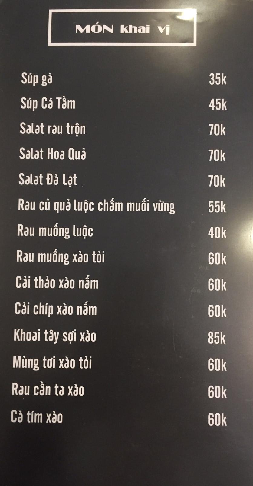 Menu Lam Huyền - Đặc sản lẩu hơi nồi đá - Hoàng Quốc Việt  5