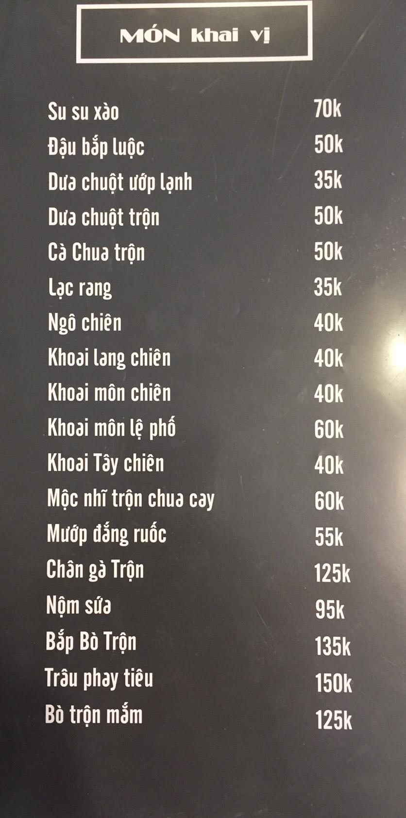 Menu Lam Huyền - Đặc sản lẩu hơi nồi đá - Hoàng Quốc Việt  6