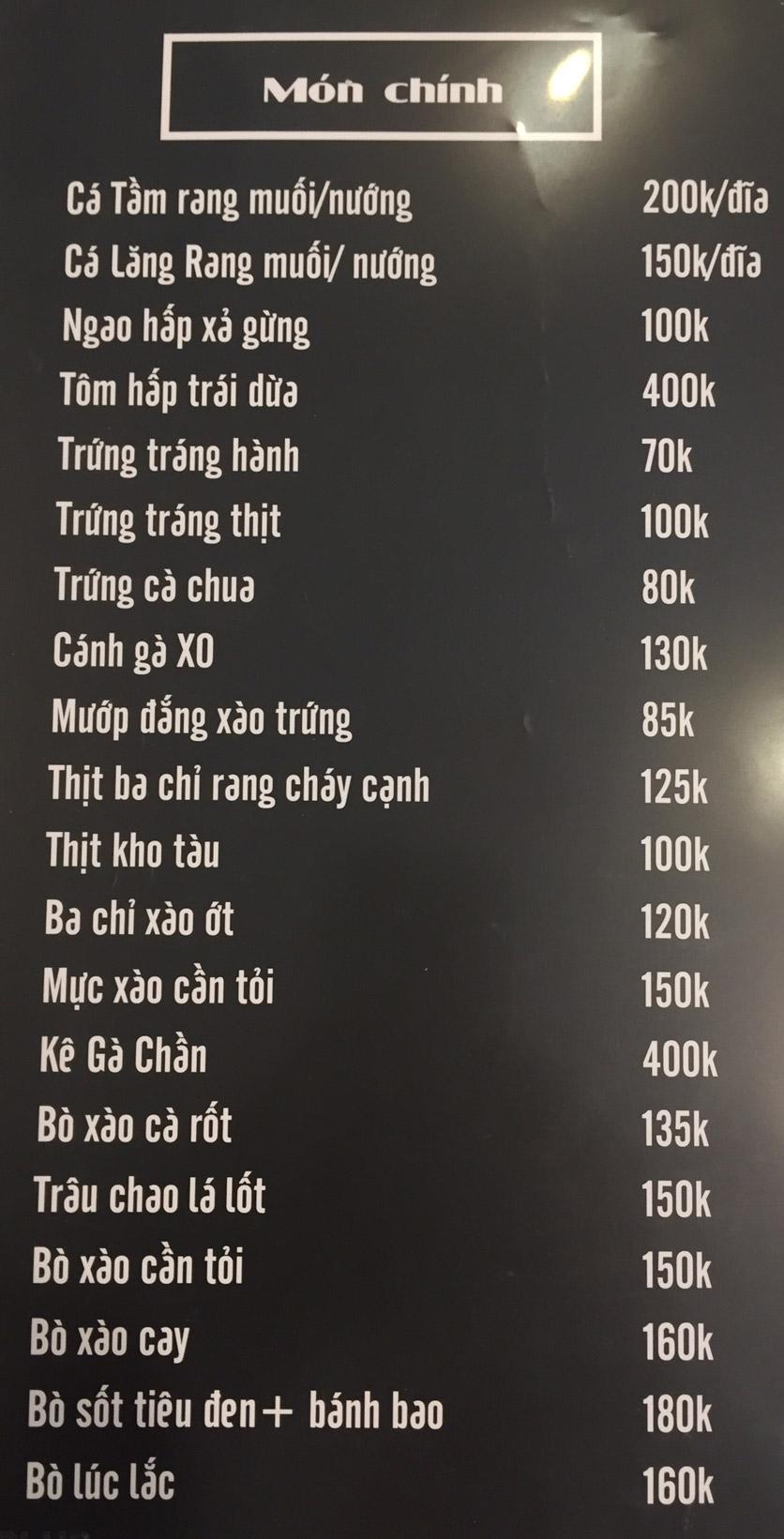 Menu Lam Huyền - Đặc sản lẩu hơi nồi đá - Hoàng Quốc Việt  7