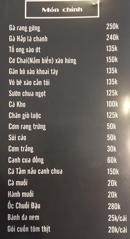 Menu Lam Huyền - Đặc sản lẩu hơi nồi đá - Hoàng Quốc Việt  8