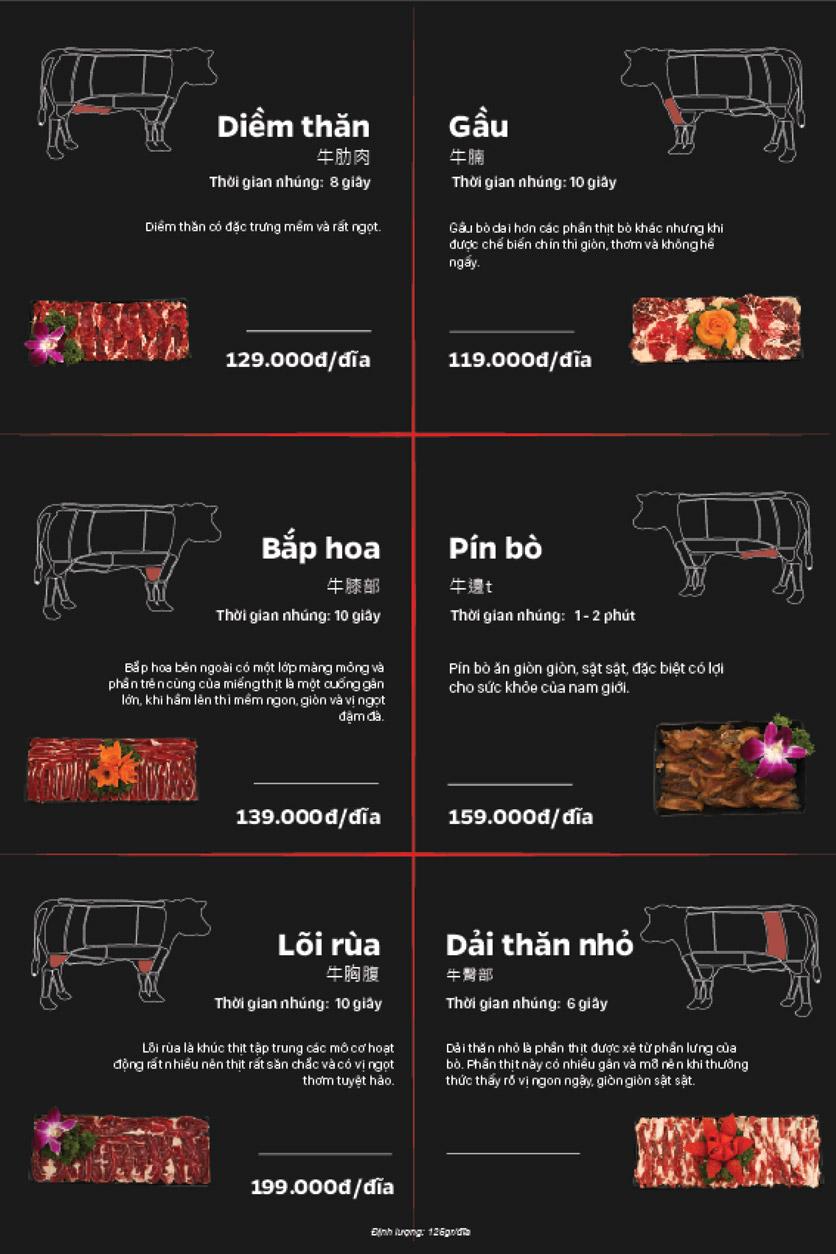 Menu Lẩu Bò Trung Hoa - Thái Hà  6