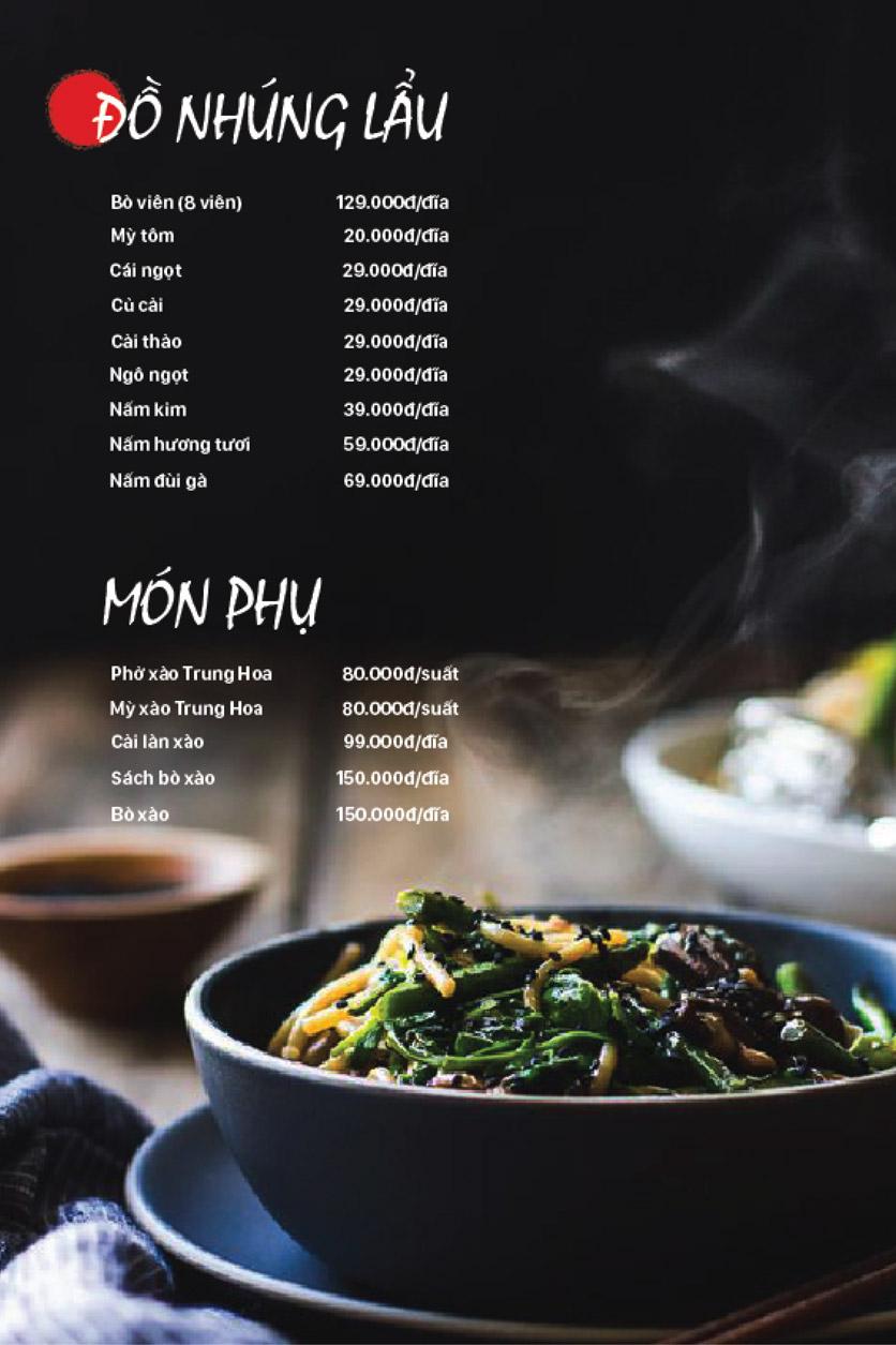Menu Lẩu Bò Trung Hoa – Yên Phụ   7