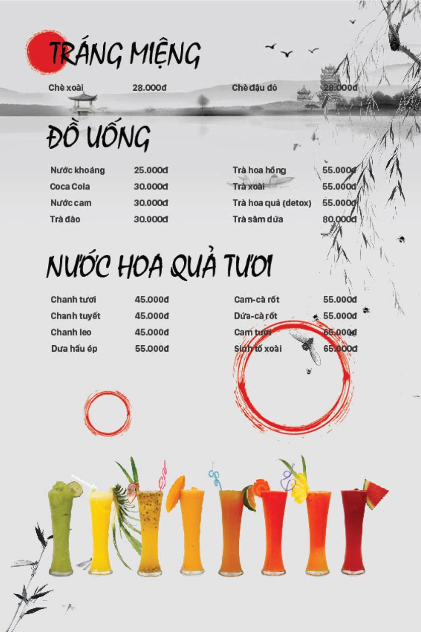 Menu Lẩu Bò Trung Hoa - Thái Hà  10