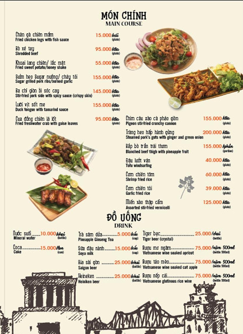 Menu Lẩu Cua Đồng - Hàm Long 2