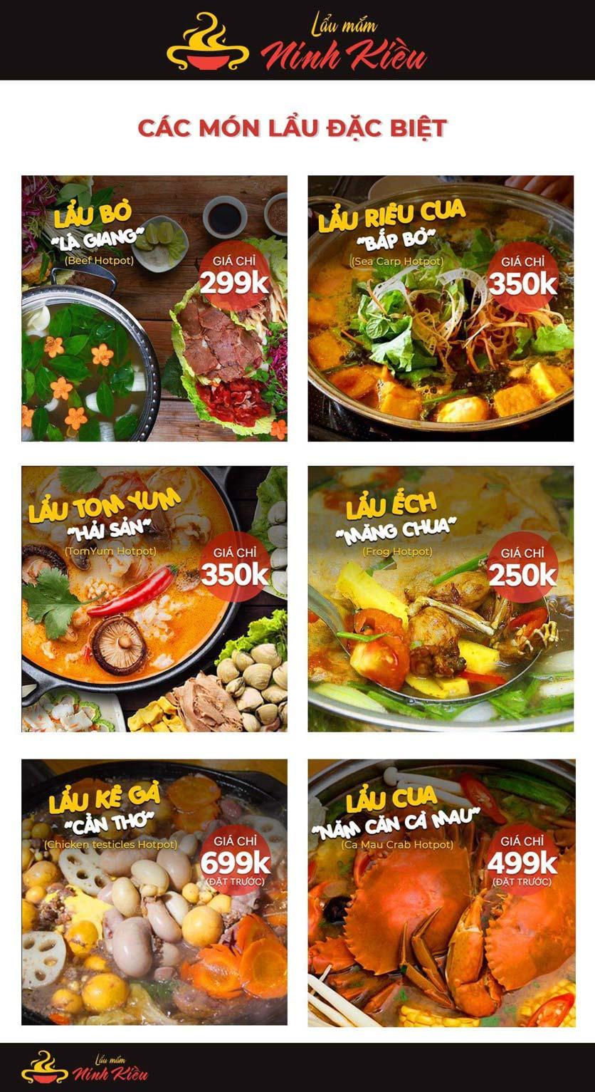 Menu Lẩu Mắm Ninh Kiều - Hàng Bún 7