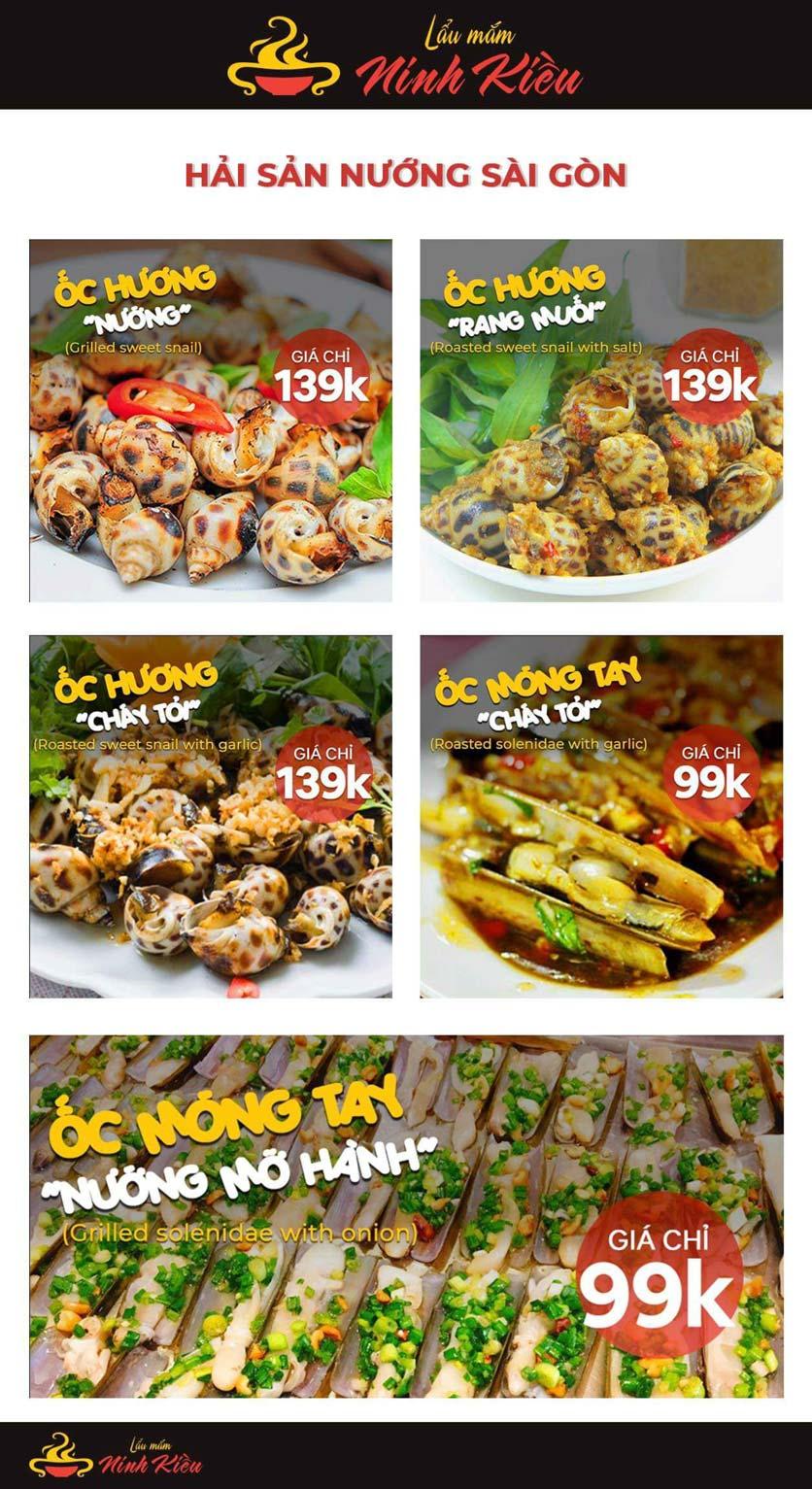 Menu Lẩu Mắm Ninh Kiều - Hàng Bún 15
