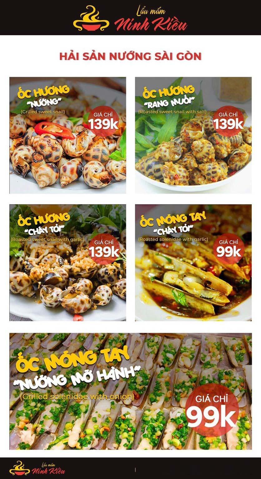 Menu Lẩu Mắm Ninh Kiều - Hàng Bún 18