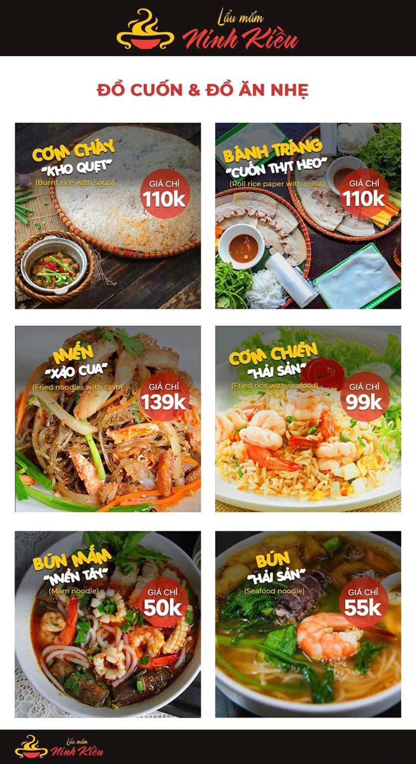 Menu Lẩu Mắm Ninh Kiều - Hàng Bún 8
