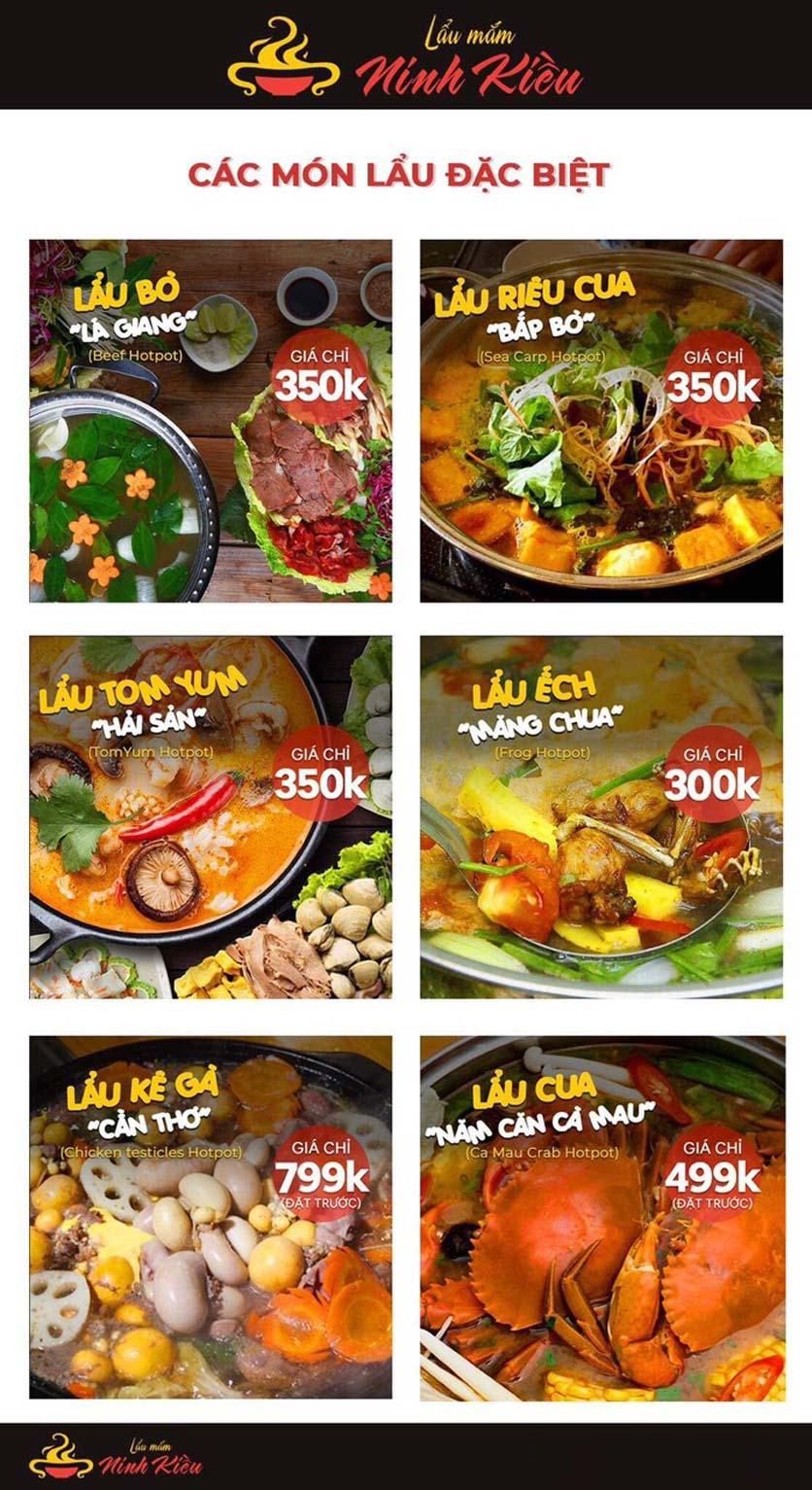Menu Lẩu Mắm Ninh Kiều - Hàng Bún 10