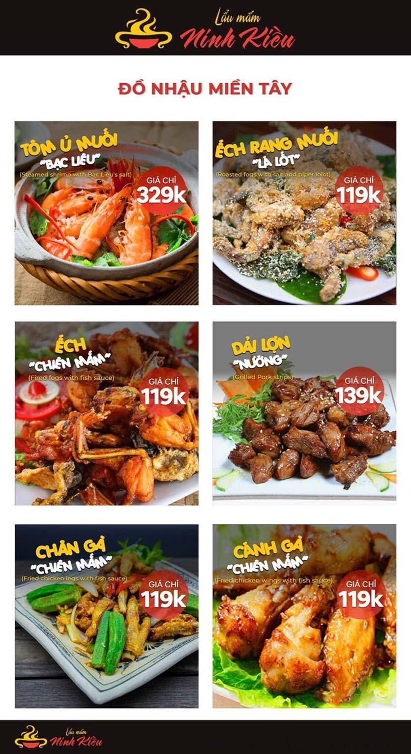 Menu Lẩu Mắm Ninh Kiều - Hàng Bún 11
