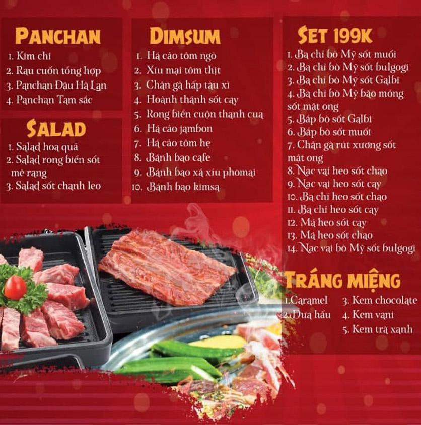 Menu Làu - Buffet Lẩu Nướng - Nguyên Hồng 1