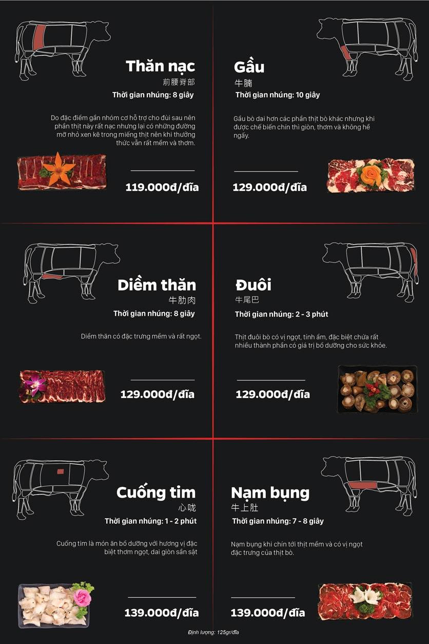 Menu Lẩu Bò Trung Hoa - Thái Hà  5