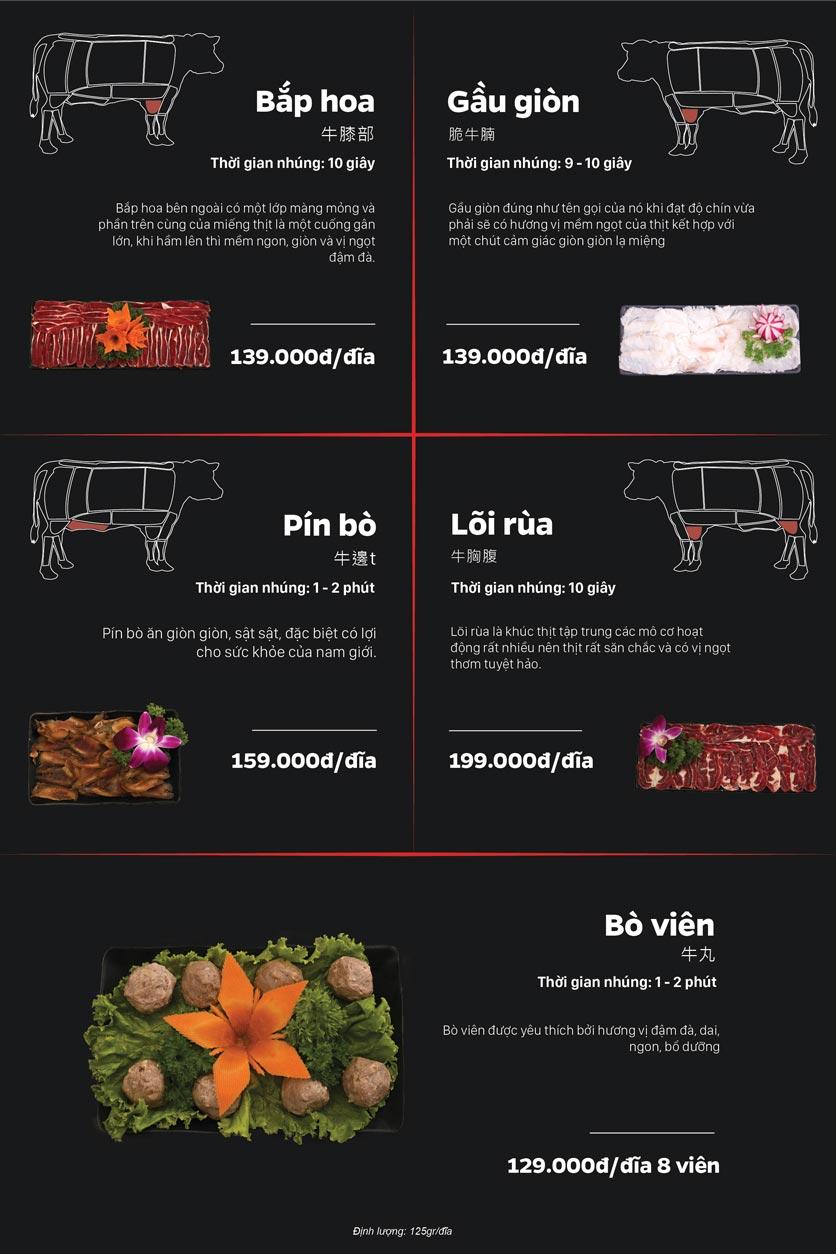 Menu Lẩu Bò Trung Hoa - Thái Hà  7