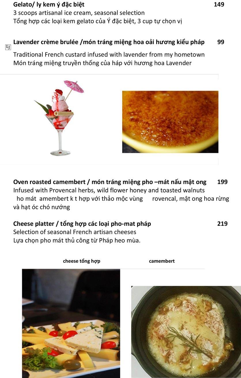 Menu Le Jardin – French Bistro - Quảng An   14