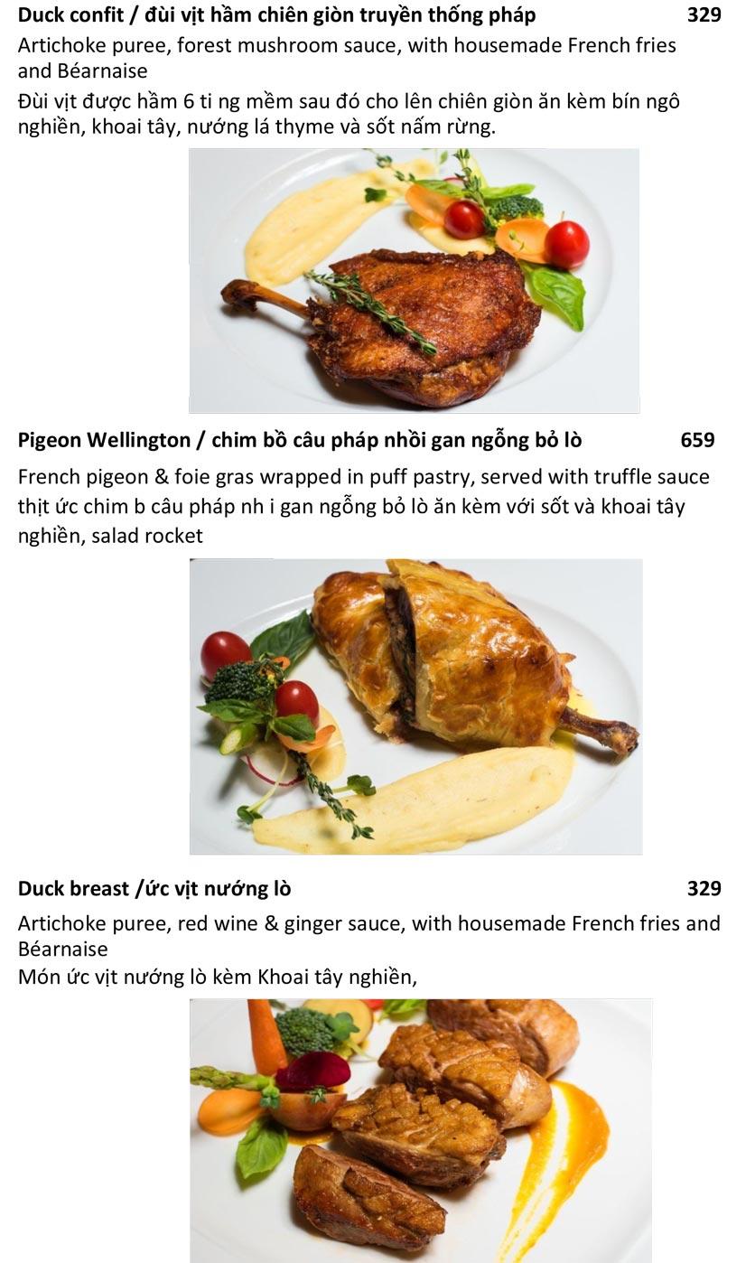 Menu Le Jardin – French Bistro - Quảng An   9