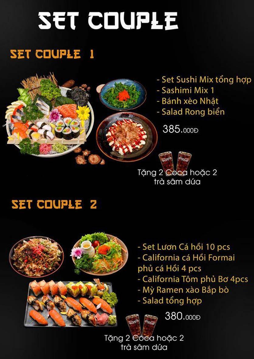 Menu Let's Sushi - Quốc Tử Giám 1
