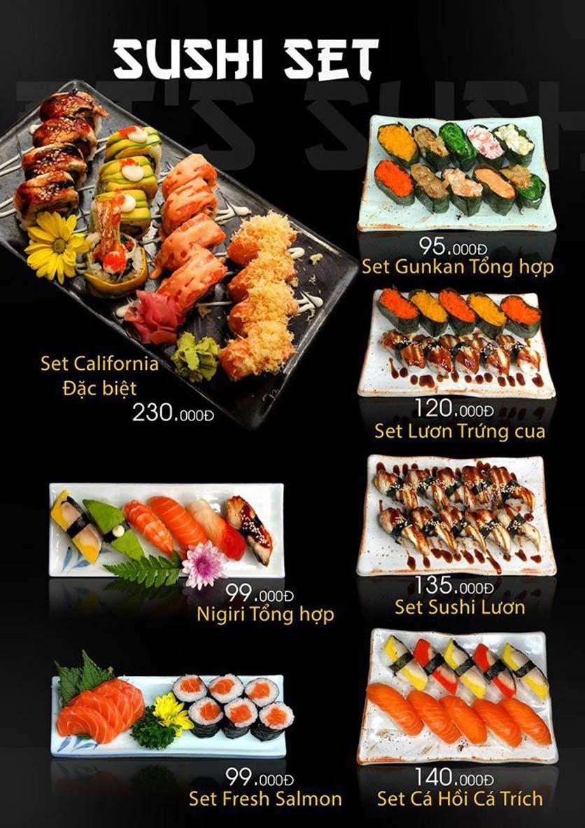 Menu Let's Sushi - Quốc Tử Giám 10