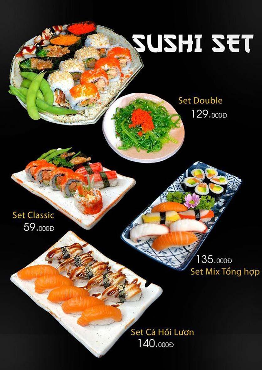 Menu Let's Sushi - Quốc Tử Giám 11