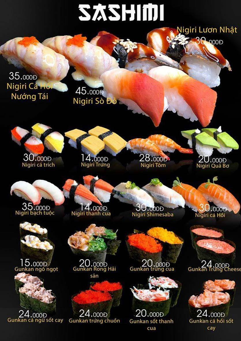 Menu Let's Sushi - Quốc Tử Giám 12