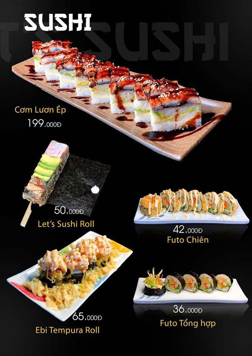 Menu Let's Sushi - Quốc Tử Giám 14