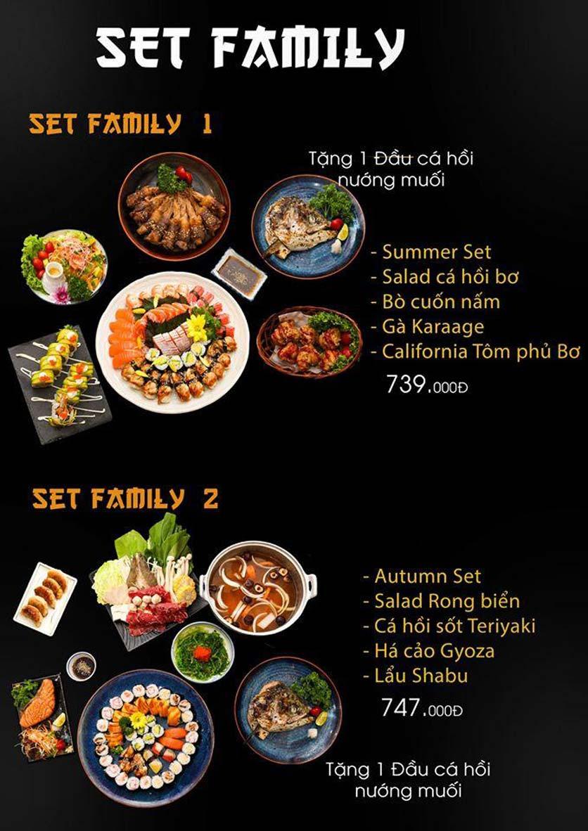 Menu Let's Sushi - Quốc Tử Giám 2
