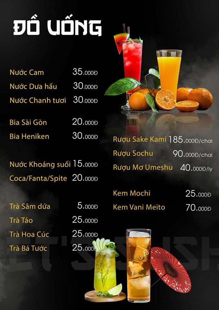Menu Let's Sushi - Quốc Tử Giám 22
