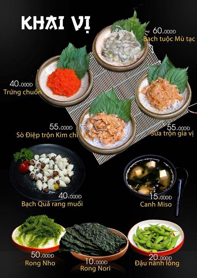 Menu Let's Sushi - Quốc Tử Giám 5