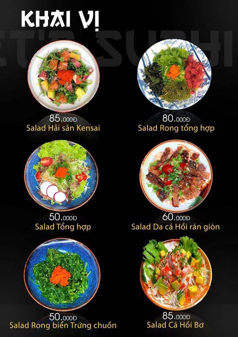 Menu Let's Sushi - Quốc Tử Giám 6