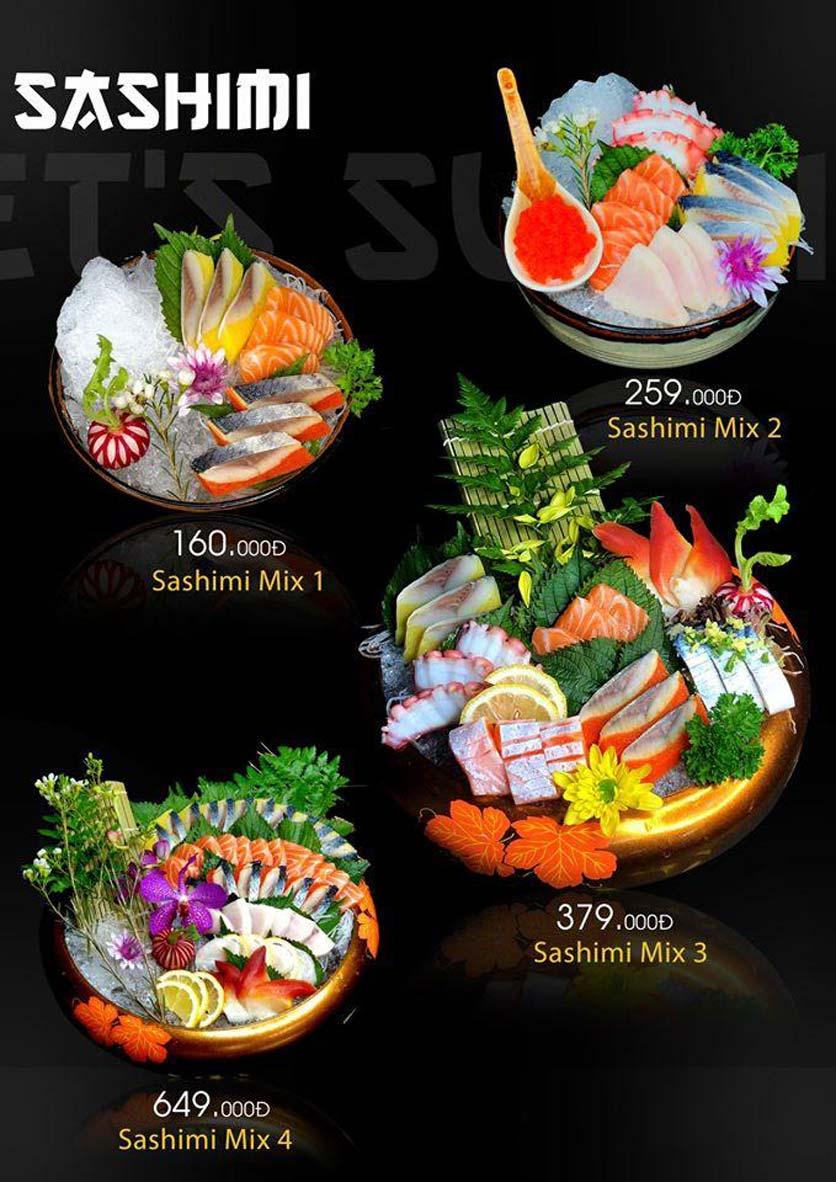 Menu Let's Sushi - Quốc Tử Giám 7