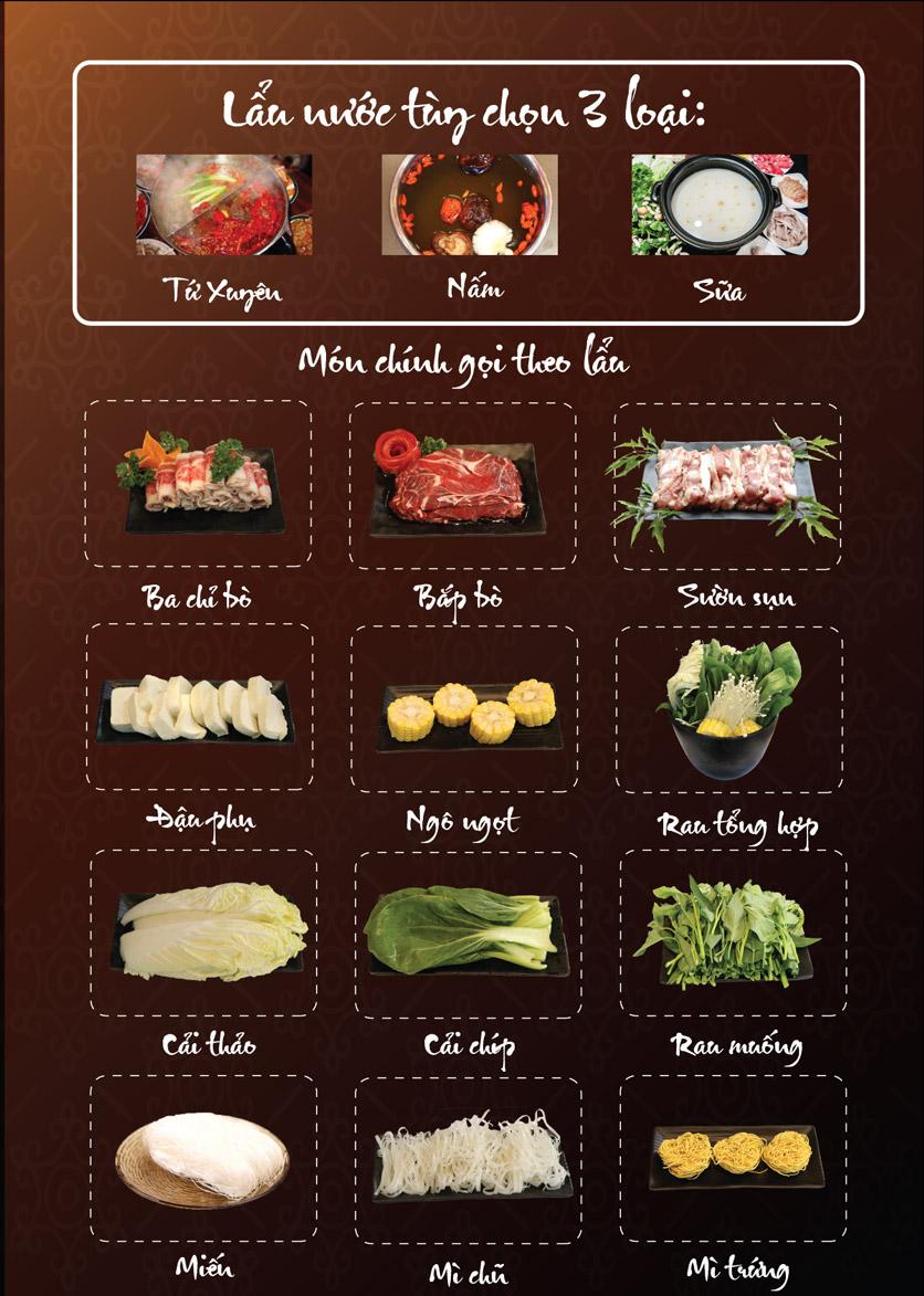 Menu Linh Nhạn Restaurant– Xuân Thủy 2