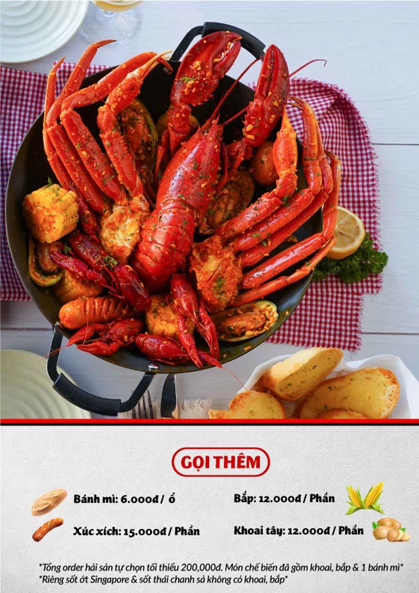 Menu Lobster Bay - Nhà Hàng Hải Sản Kiểu Mỹ - Kỳ Đồng 19