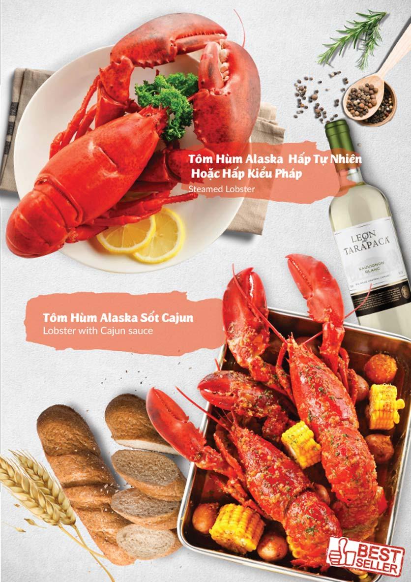 Menu Lobster Bay - Nhà Hàng Hải Sản Kiểu Mỹ - Kỳ Đồng 2