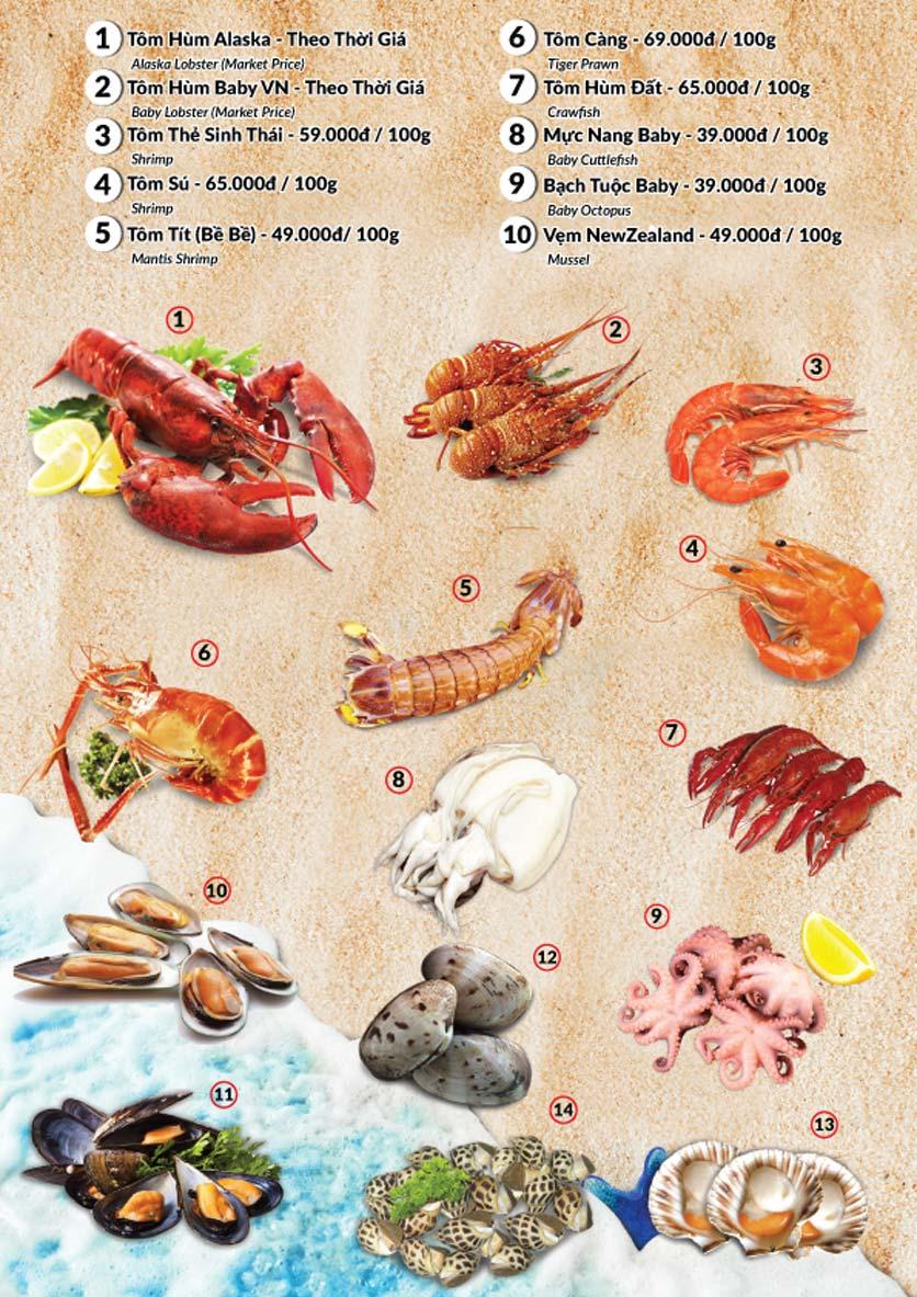 Menu Lobster Bay – Nhà hàng hải sản kiểu Mỹ – Nguyễn Tri Phương 21